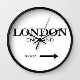 London - England Wall Clock
