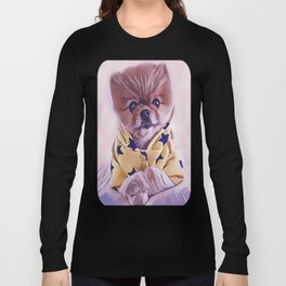 Pomeranian Wearing Pajamas Long Sleeve T-shirt