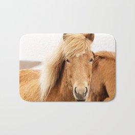 Icelandic Chestnut Horse Bath Mat
