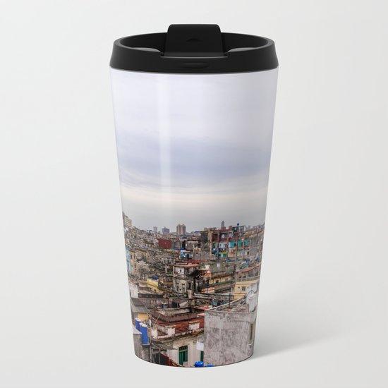 Ciudad de La Habana Metal Travel Mug