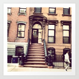 Brooklyn Brownstones Art Print