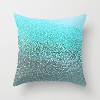 teal Throw Pillows featuring TEAL  by Monika Strigel