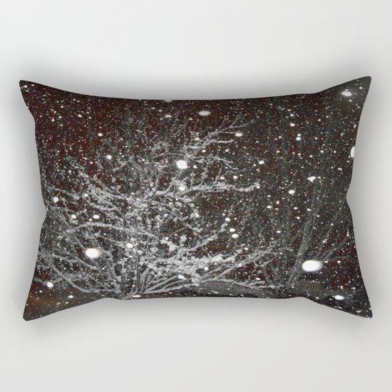 Night Snow Rectangular Pillow