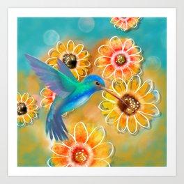 Hummingbird Bounty Art Print