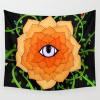 chakra Wall Tapestries featuring Sacral Chakra by DuckyB