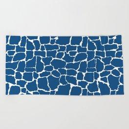 Classic Blue Giraffe Beach Towel