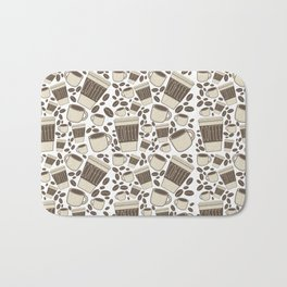 More Coffee Please: Beans Mugs & Cups Bath Mat