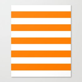 Amber (SAE/ECE) - solid color - white stripes pattern Canvas Print