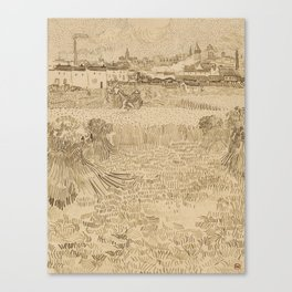 Arles: View from the Wheatfields Canvas Print