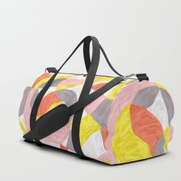 Quilt Abstract Painting 4 Beach Surf Wave Duffle Bag
