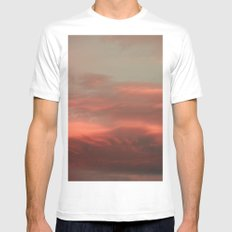 Clouds White MEDIUM Mens Fitted Tee