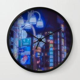 Tokyo night: A futuristic city, a beautiful dream Wall Clock