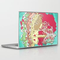 in the flesh Laptop & iPad Skins featuring Flesh illustration by ArDem