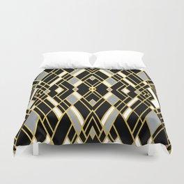Art Deco Grey Gold Duvet Cover