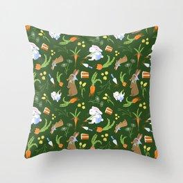 Springtime Bunnies Throw Pillow