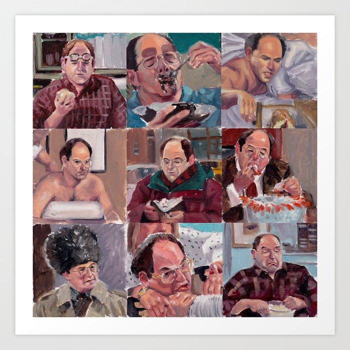 9 shades of Costanzas Art Print