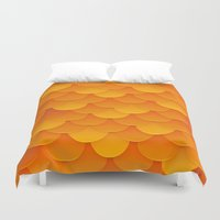 goldfish Duvet Covers featuring Goldfish by Screen Candy