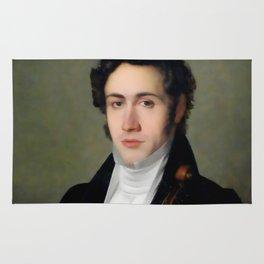 Portait of young Niccolò Paganini Rug