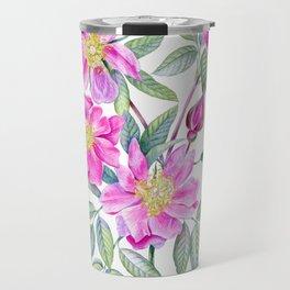 Watercolor handpainted rosehip Travel Mug