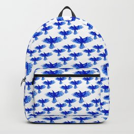 Blue bird wings Backpack