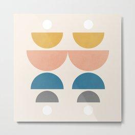 Abstraction_NEW_SUN_MOON_BALANCE_POP_ART_0223AM Metal Print