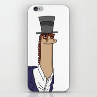 greg guillemin iPhone & iPod Skins featuring Greg the Fancy Llama  by Josh Lee