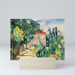 "Paul Cezanne ""House with red roof"", 1890 Mini Art Print"