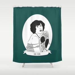 Lili Elbe Illustrated Portrait Shower Curtain