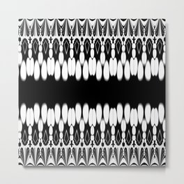 Abstract monochrome pattern Metal Print