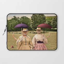 Two Pretty Kitties: Out for a Stroll Laptop Sleeve