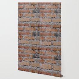 Aged Brick Wall rustic decor Wallpaper