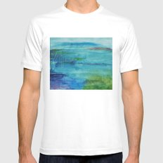 climate chaos SMALL White Mens Fitted Tee
