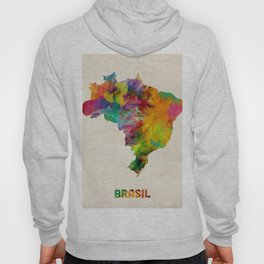 Brazil Watercolor Map Hoody