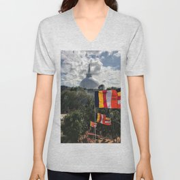 Temple on the Mountain Unisex V-Neck