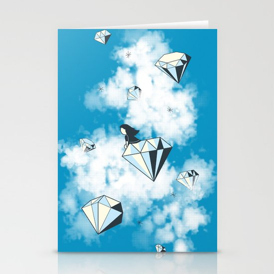 Like a Diamond in the Sky Stationery Cards
