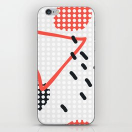 Modern hand draw abstract seamless pattern iPhone Skin