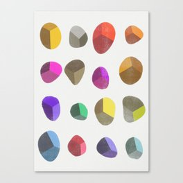 Painted Pebbles 2 Canvas Print