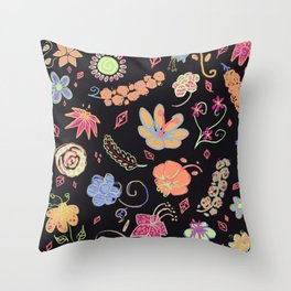 Poppin' Throw Pillow