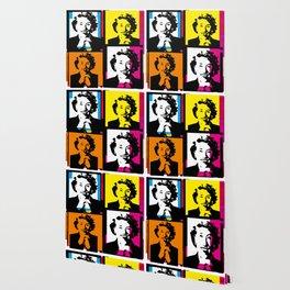 ENID BLYTON (FUNKY-COLOURED POP ART COLLAGE) Wallpaper