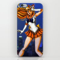 sailor venus iPhone & iPod Skins featuring Sailor Venus by Nelson Rodrigues