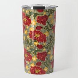 Vintage Crepe Floral Travel Mug