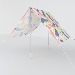 Colourful Brushstroke & Spot Artistic Pattern Sun Shade