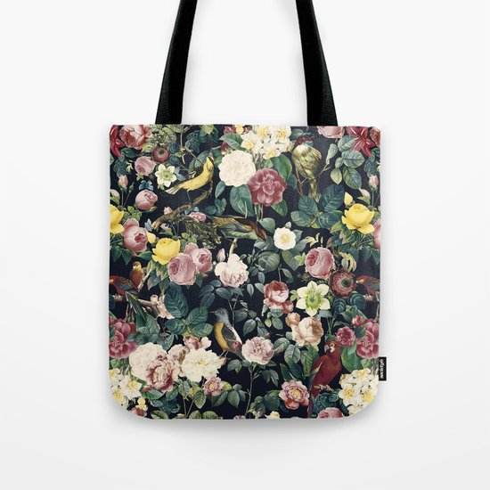 Floral and Birds IV Tote Bag