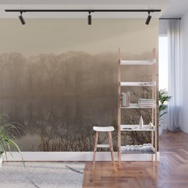 Foggy springtime Reflections Wall Mural