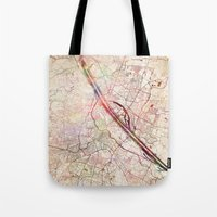 vienna Tote Bags featuring Vienna by MapMapMaps.Watercolors