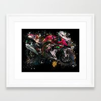 motorcycle Framed Art Prints featuring Motorcycle by ron ashkenazi