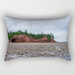 Low Tide at the Caves  Rectangular Pillow