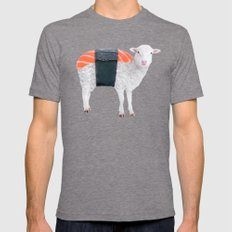SUSHEEP Mens Fitted Tee LARGE Tri-Grey