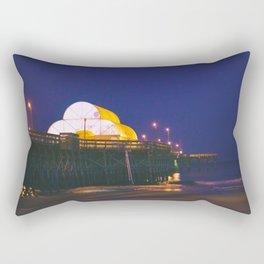 Myrtle Beach Pier at Dusk Rectangular Pillow