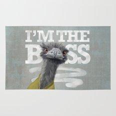 I am the Boss - Ostrich. Rug